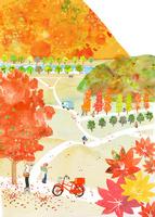 紅葉 田舎暮らし 02653000044| 写真素材・ストックフォト・画像・イラスト素材|アマナイメージズ