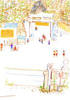 神社 02653000068  写真素材・ストックフォト・画像・イラスト素材 アマナイメージズ