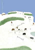 雪と牛 02653000101  写真素材・ストックフォト・画像・イラスト素材 アマナイメージズ