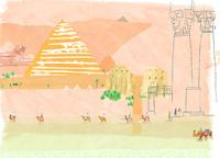 旅行イメージ エジプトのピラミッド