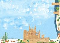 旅行イメージ スペインのヨット 02653000121| 写真素材・ストックフォト・画像・イラスト素材|アマナイメージズ