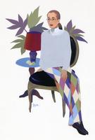 椅子に座る女性のポートレート
