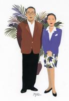 中高年の男性と女性のポートレート