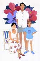 夫婦と男の子のポートレート 02655000021| 写真素材・ストックフォト・画像・イラスト素材|アマナイメージズ