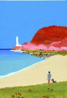 灯台のある海岸