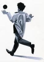 ボールと跳ねる男 02655000177| 写真素材・ストックフォト・画像・イラスト素材|アマナイメージズ