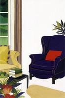 一人掛けソファのあるリビングルーム 02655000212| 写真素材・ストックフォト・画像・イラスト素材|アマナイメージズ