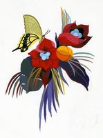 花と蝶 02655000222| 写真素材・ストックフォト・画像・イラスト素材|アマナイメージズ