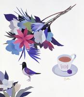花と鳥 02655000298| 写真素材・ストックフォト・画像・イラスト素材|アマナイメージズ