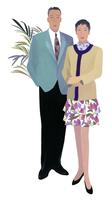 スーツをきた男性と女性