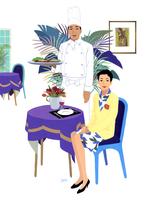 シェフと女性 02655000376| 写真素材・ストックフォト・画像・イラスト素材|アマナイメージズ