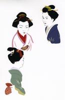 和装の女性3パターン