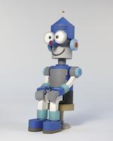 座っているロボット