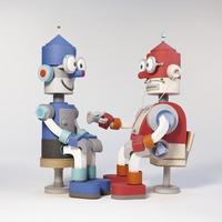先生ロボットと患者ロボット 02656000007| 写真素材・ストックフォト・画像・イラスト素材|アマナイメージズ