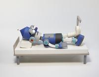 骨折をしたロボット