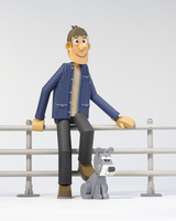 青年と犬 02656000046| 写真素材・ストックフォト・画像・イラスト素材|アマナイメージズ