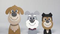 3頭の犬 02656000097| 写真素材・ストックフォト・画像・イラスト素材|アマナイメージズ
