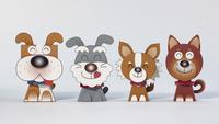 4頭の犬 02656000103| 写真素材・ストックフォト・画像・イラスト素材|アマナイメージズ