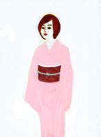 着物を着た女性