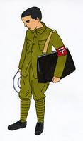 戦時中の男性