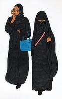 イスラムの女性二人