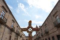 モレリア 死者の日の十字架と旧市街地