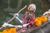 モレリア歴史地区 死者の日 船に乗るがいこつ