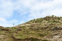 トレッキングルート 別れ道と草原