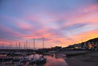 ライムレジス 夕暮れの港