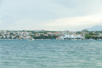 クロアチア 朝の海と町並み