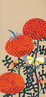 花と虫 紅菊