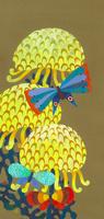 花と虫 黄菊