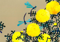 花と虫 菊と蜻蛉