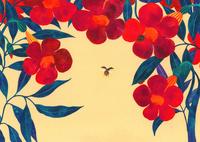 花と虫 夏の花と天道虫