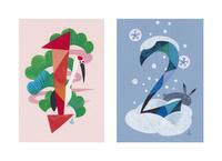 季節感のある数字(1月、2月)