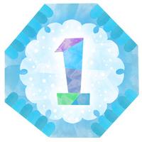 雪の文様、数字の1 02671000110| 写真素材・ストックフォト・画像・イラスト素材|アマナイメージズ