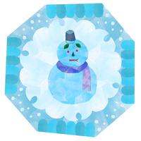 雪だるま、和の文様 02671000113| 写真素材・ストックフォト・画像・イラスト素材|アマナイメージズ