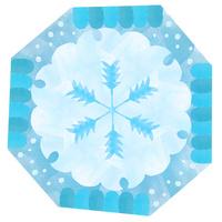 雪輪、雪の結晶、雪景色、和の文様 02671000116| 写真素材・ストックフォト・画像・イラスト素材|アマナイメージズ