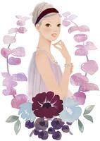 花と女性 02675000006| 写真素材・ストックフォト・画像・イラスト素材|アマナイメージズ