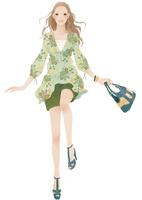 弾むようにステップを踏む女性 02675000011| 写真素材・ストックフォト・画像・イラスト素材|アマナイメージズ