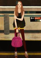 駅のホームに立つ女性 02675000021| 写真素材・ストックフォト・画像・イラスト素材|アマナイメージズ