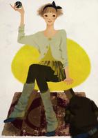 椅子に座り犬にボールを投げる女性 02675000024| 写真素材・ストックフォト・画像・イラスト素材|アマナイメージズ