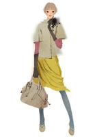 バッグを持ち立つ女性 02675000039| 写真素材・ストックフォト・画像・イラスト素材|アマナイメージズ