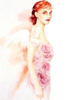 天使の羽の女性