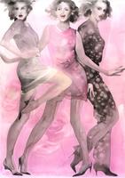 ピンクの3人の女性
