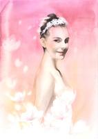 桜色の女性