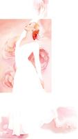 白いドレスの女性全身