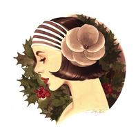 ノスタルジックなヘアの女性(クリスマス) 02678000039| 写真素材・ストックフォト・画像・イラスト素材|アマナイメージズ