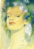 緑の森の女性イメージ