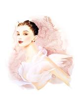 天使の羽の女性 ピンク
